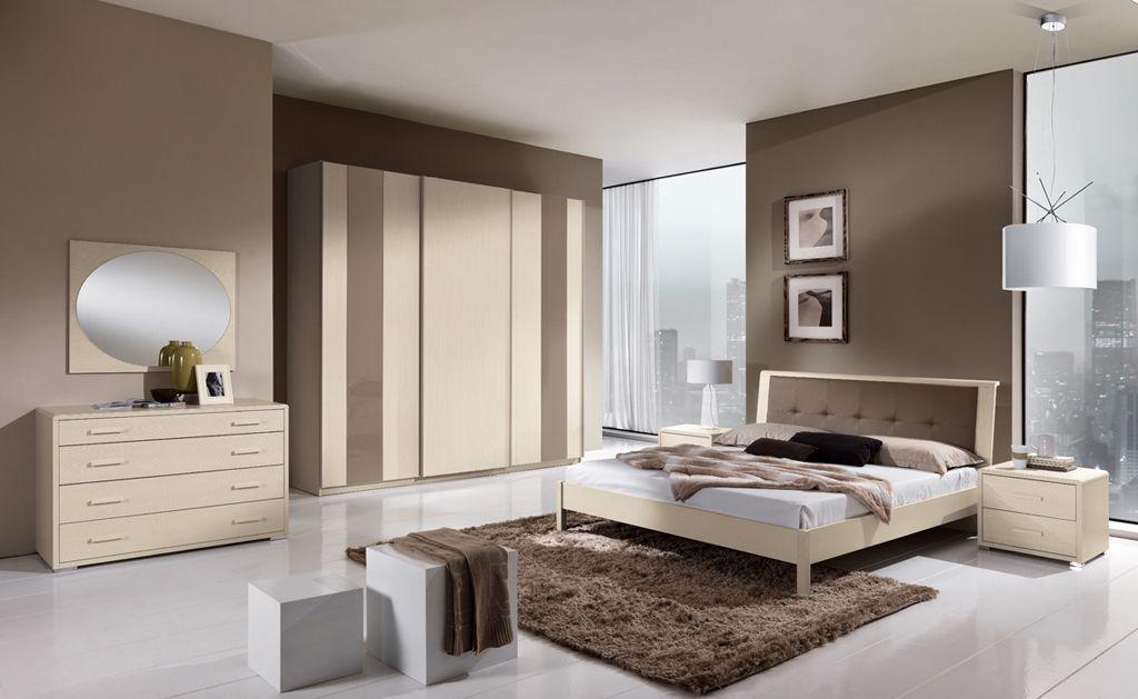 Parete Camera Da Letto Grigia: Camera bordeaux e beige colore pareti da letto...