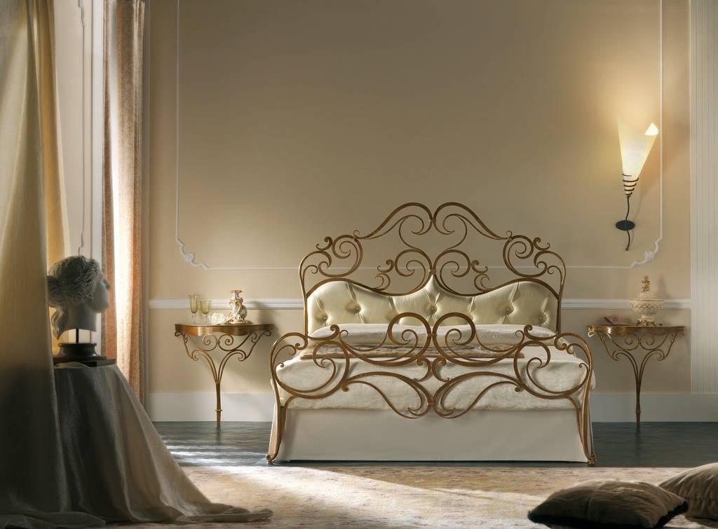 Letto matrimoniale legno e ferro bianco e argento la for Harte arredamenti